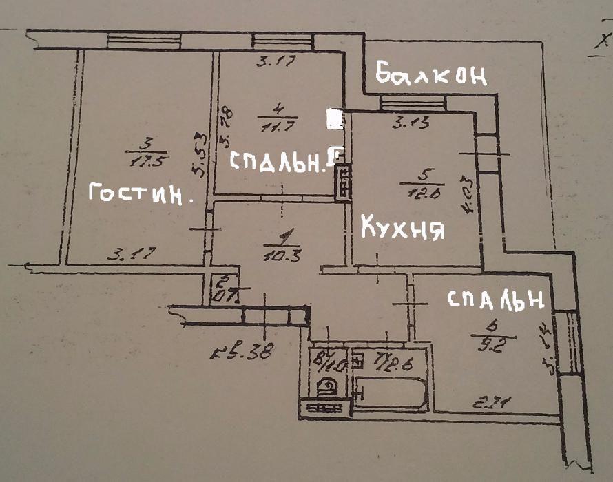Продам ? 3 к, г. Одесса                               в р-не Поселок Котовского                                фото